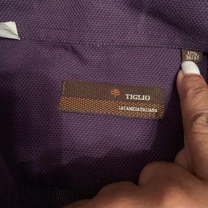 Tiglio Shirts - EUC Tiglio Dress Shirt Size: 17 1/2 36/37